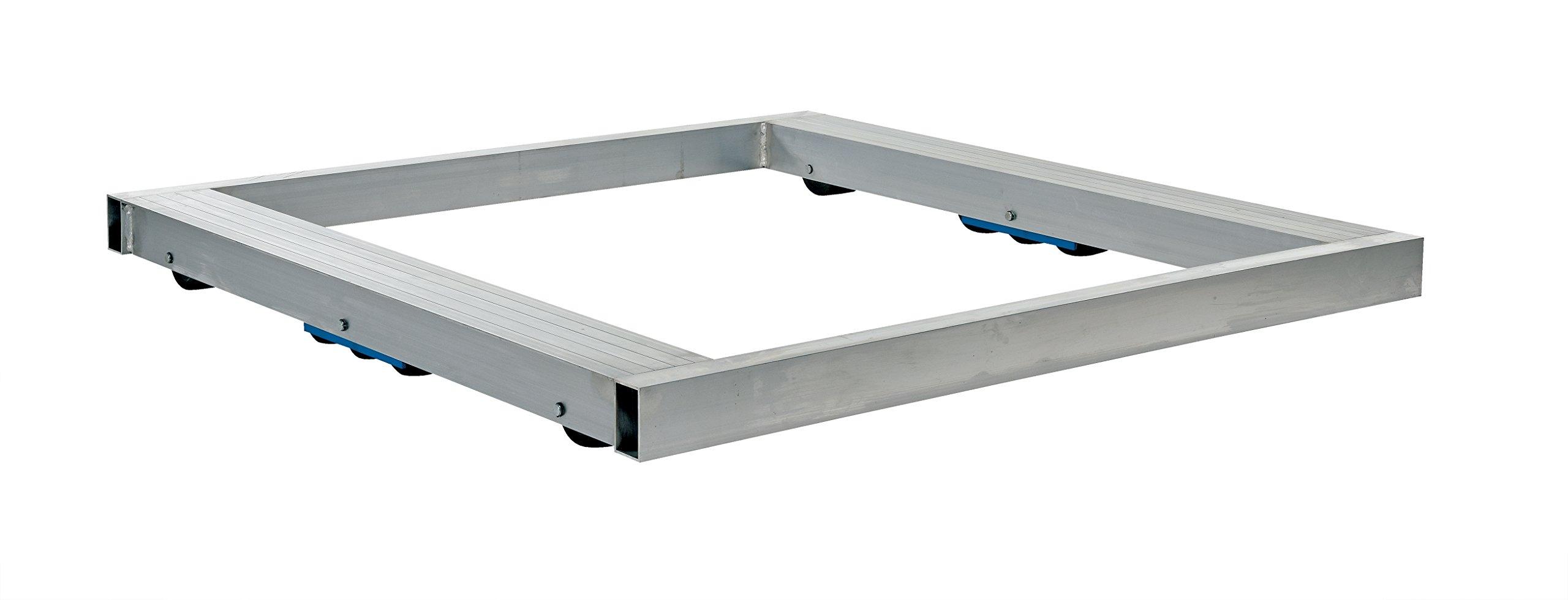 Vestil DOL-4242-10T Pallet Dolly, Tilting, Aluminum, 8,000 lb. Capacity, 4-1/8 x 42 x 42