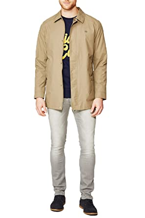 b518706946bf Mens Spread Collar Longline Mac Jacket By Threadbare  Amazon.co.uk  Clothing