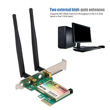 Dual Band 2.4G/5G 867 Mbps Tarjeta de Red PCI Express con ...