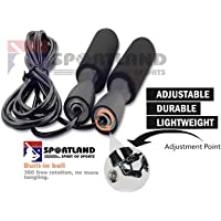 SPORTLAND Adjustable Skipping Rope for Gym Training and Workout