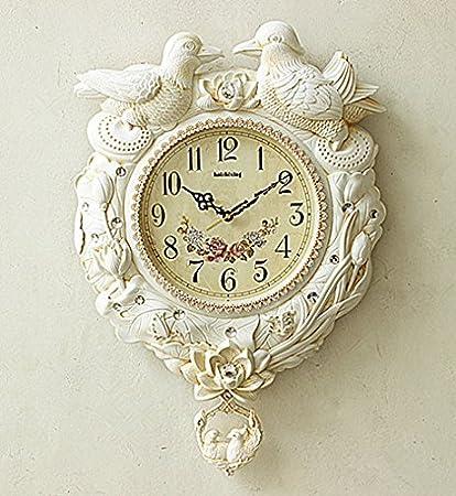 OLQMY-Europeas relojes grandes de pared reloj del sala de estar moderno reloj silencioso moda