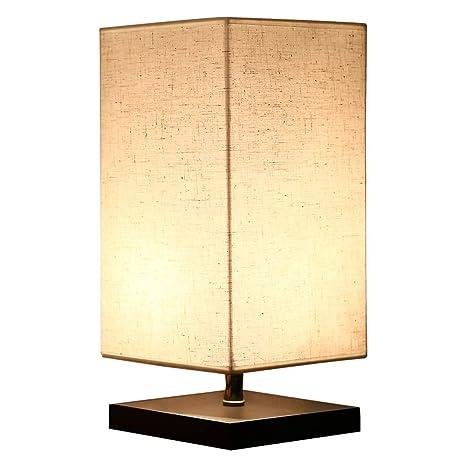 Hoiho Bois Lampe De Table Retro Minimaliste Bois Massif Et Tissu