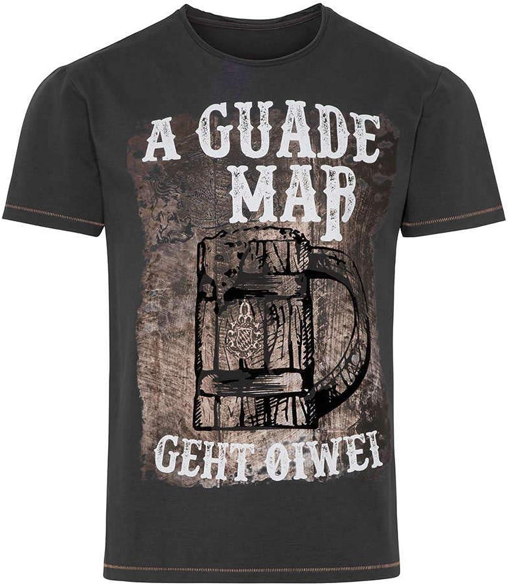 Hangowear Herren Herren T-Shirt A guade Ma/ß geht ollerwei dunkelgrau 0208-DUNKELGRAU,