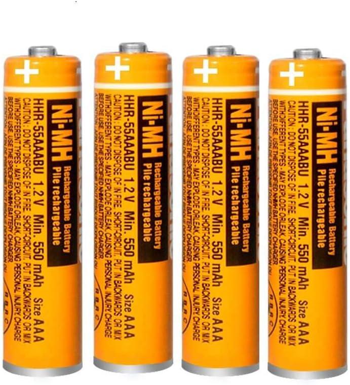 4 Pilas Recargables AAA NI-MH para Panasonic HHR-55AAABU 1,2 V: Amazon.es: Electrónica