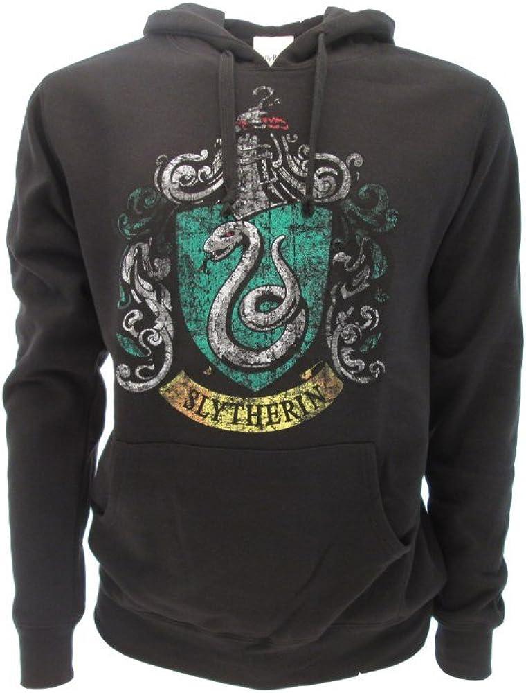Harry Potter Sudadera con Capucha Hoodie Simbolo de Slytherin Casa - 100% Oficial Warner Bros (M Medium)