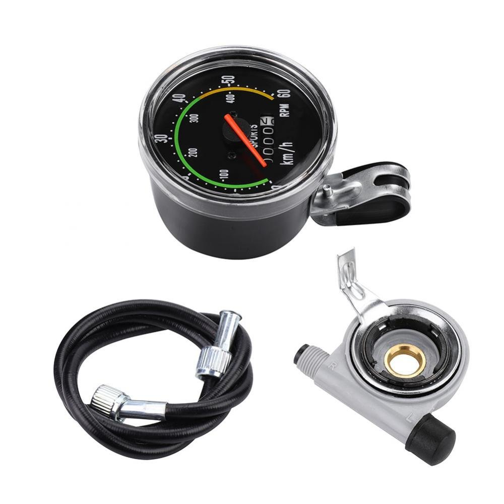 Bicycle Computer, Mechanical Bike Speedometer Odometer Cycling Stopwatch Cyclocomputer