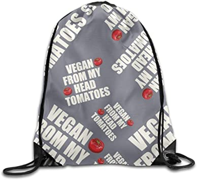 KIMIOE Mochilas Vegan from My Head Tomatoes Unisex Lightweight ...