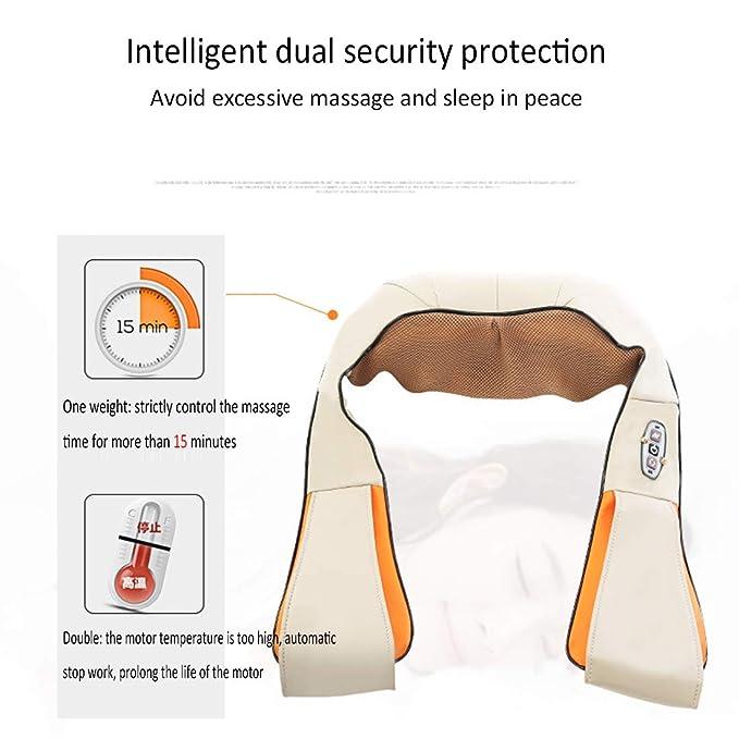 Echarpe de massage vibration cou épaule dos charge USB masseur cervicale   Amazon.fr  Hygiène et Soins du corps 05571a4de71