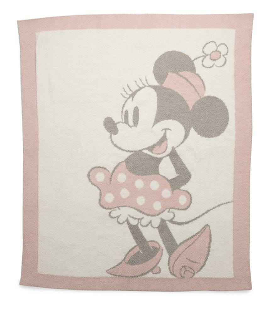 Barefoot Dreams CozyChic Vintage Disney Minnie Mouse Baby Blanket, Size 32'' x 40'' - Dusty Rose by Barefoot Dreams