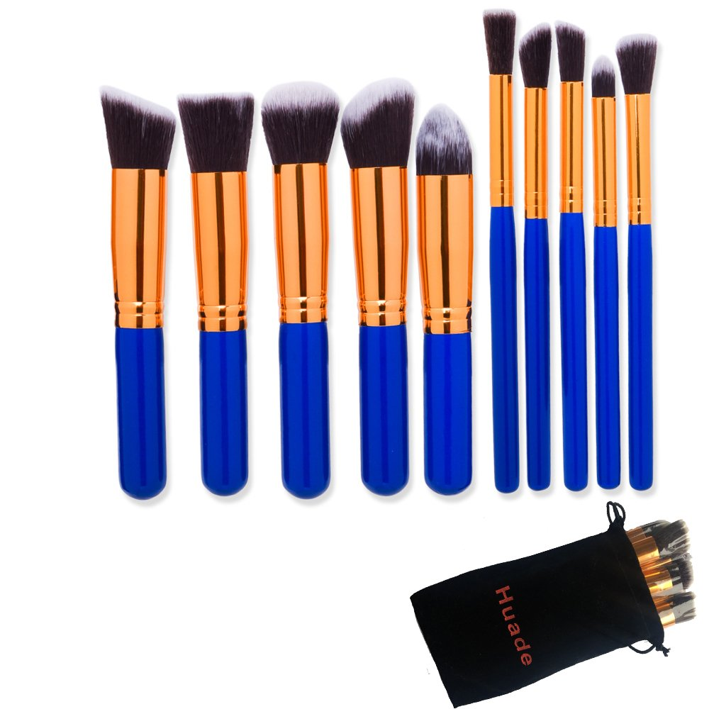 Amazon com: Huade 10 PCs Makeup Brushes Sets, Cosmetic Brush