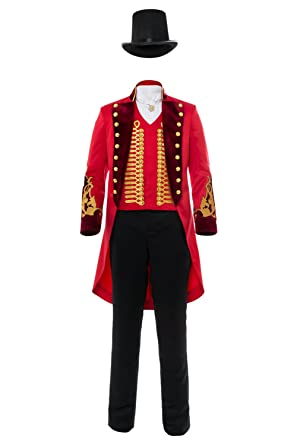 Adult Performance Uniform Showman Party Suit Circus Red Outfit Cosplay Costume (Female: X-