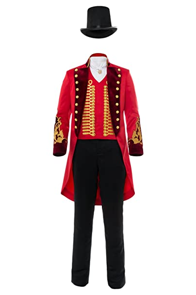 Disfraz de Circo para Hombre Vestido de Lujo del Ringmaster de Las Senoras Halloween Adult Performance