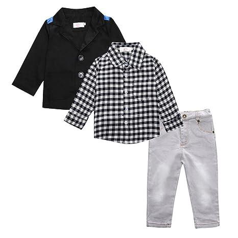 Bebé Niño Body Suit, abrigo + Camiseta + - Pantalones ...