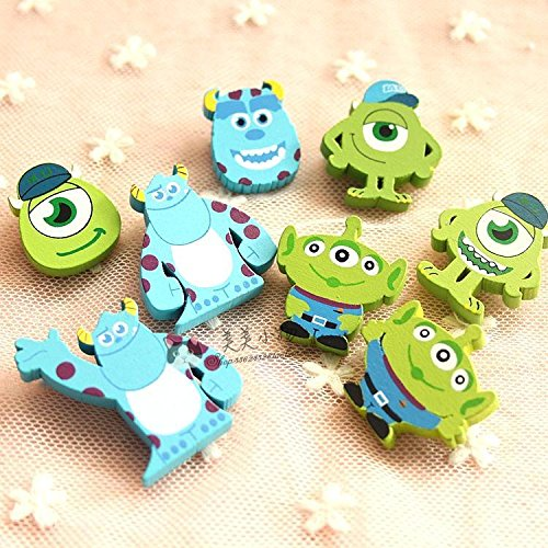 Pixar animation s, Inc., Toy Story cartoon wooden brooch badge badges College (Best Of Pixar Animation)