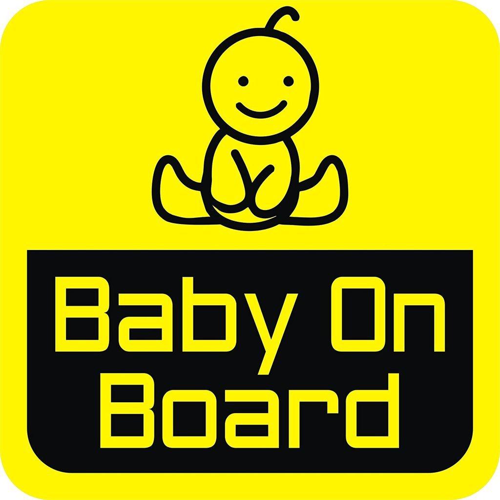 Cvanu baby on board background yellow baby journey windows car sticker pack of 2 stickers amazon in car motorbike