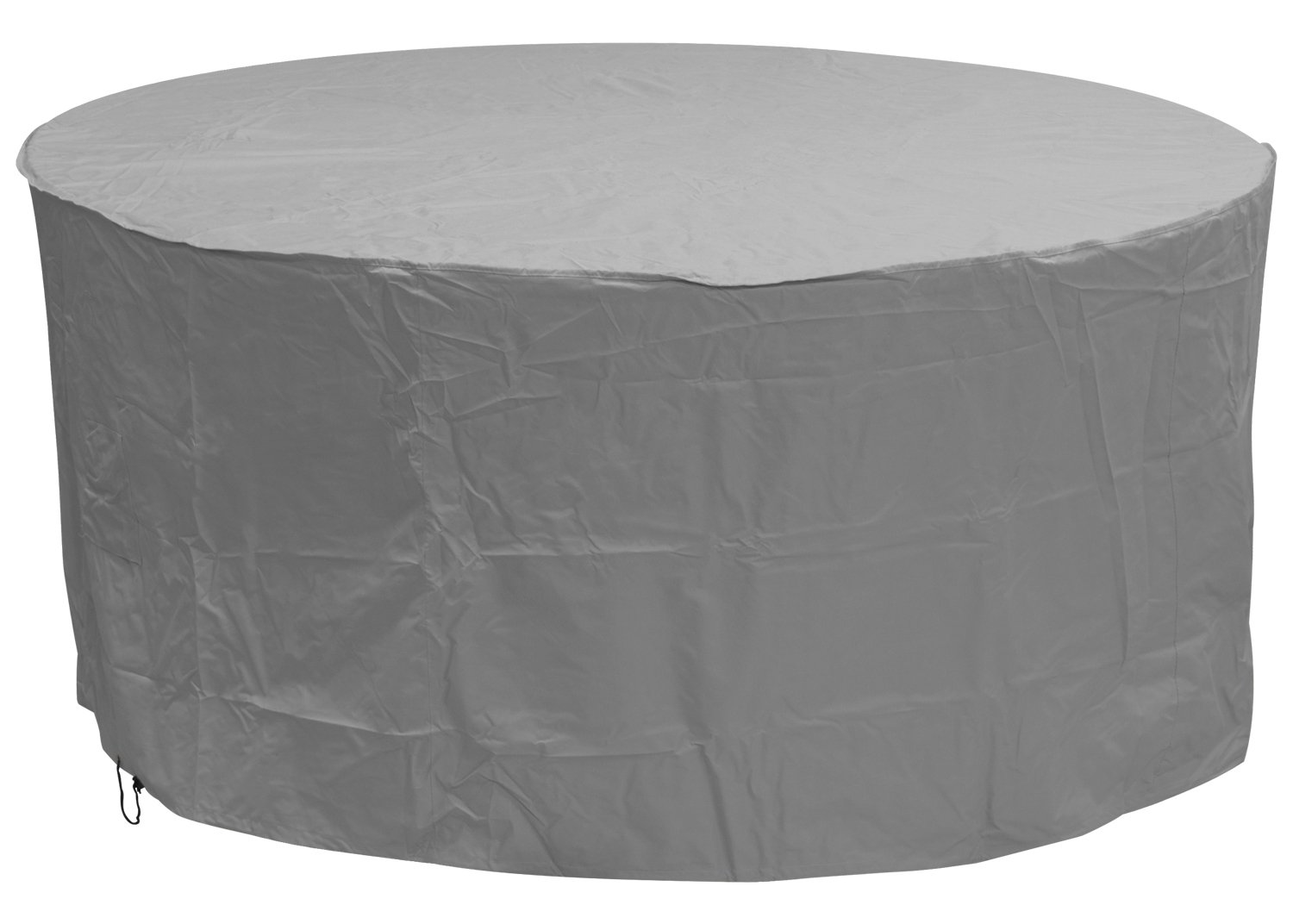 Oxbridge grey large round outdoor garden patio furniture set cover 2 27m x 1m 7 4ft x 3 25ft 5 year guarantee