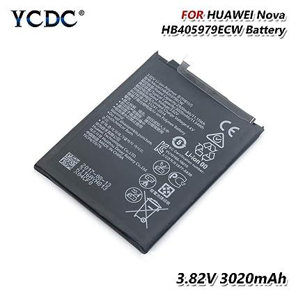 later check out separation shoes Amazon.com: Original HB405979ECW Battery for Huawei Nova ...