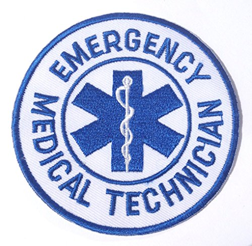 Emergency Medical Technician Patch EMT Embroidered Iron on Badge / 3 Inch DIY Applique CPR AED First Aid -