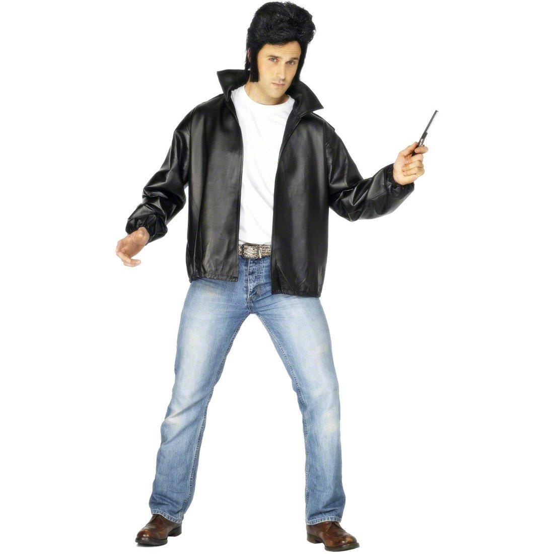 NET TOYS Giacca Grease anni 60 similpelle nera logo T-Birds rock star  rocker biker costume - XL 60 62  Amazon.it  Giochi e giocattoli 3be4cbeeae08