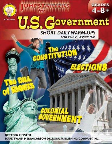 Read Online Jumpstarters for U.S. Government, Grades 4 - 8 pdf epub
