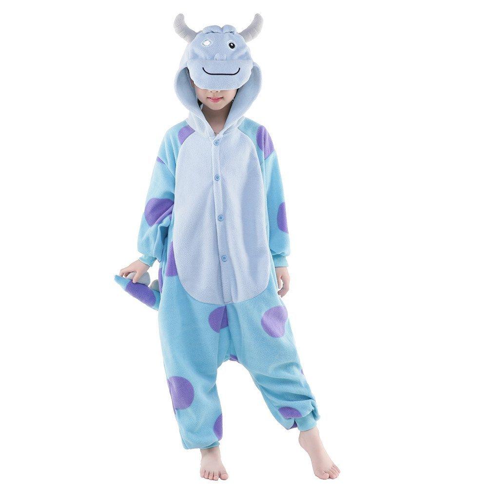 NEWCOSPLAY Kids Plush One Piece Cosplay Onesies Costume (115, Monster)