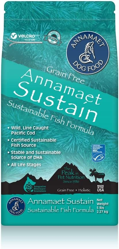 Annamaet Grain-Free Sustain Formula Dry Dog Food – 15 LB BAG
