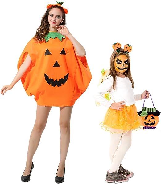FEPITO 4 Piezas Unisex Adulto Disfraz de Calabaza de Halloween ...