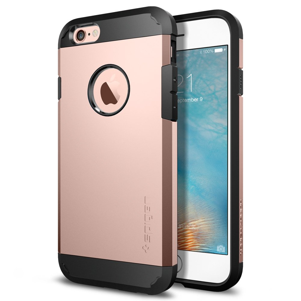 Spigen Tough Armor Iphone 6s Case With Extreme Heavy 9 Anti Shock Stand Slim Original Casing Gunmetal Duty Protection And Air Cushion Techonology For 6 Rose Gold Cell Phones
