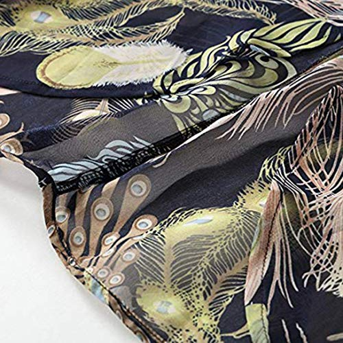 Holiday Imprim Manteau Soie Longues Noir Blouse Tops Manches Kimono de en Floral GreatestPAK dcontract Mousseline Bohme Cardigan 6C7wxqA6