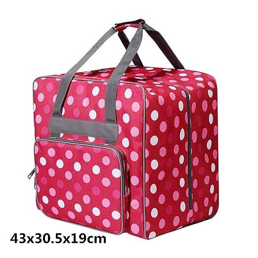 Bolsa para máquina de coser, bolsa con ruedas para máquina de coser, bolsa de almacenamiento acolchada portátil para la mayoría de las máquinas de ...