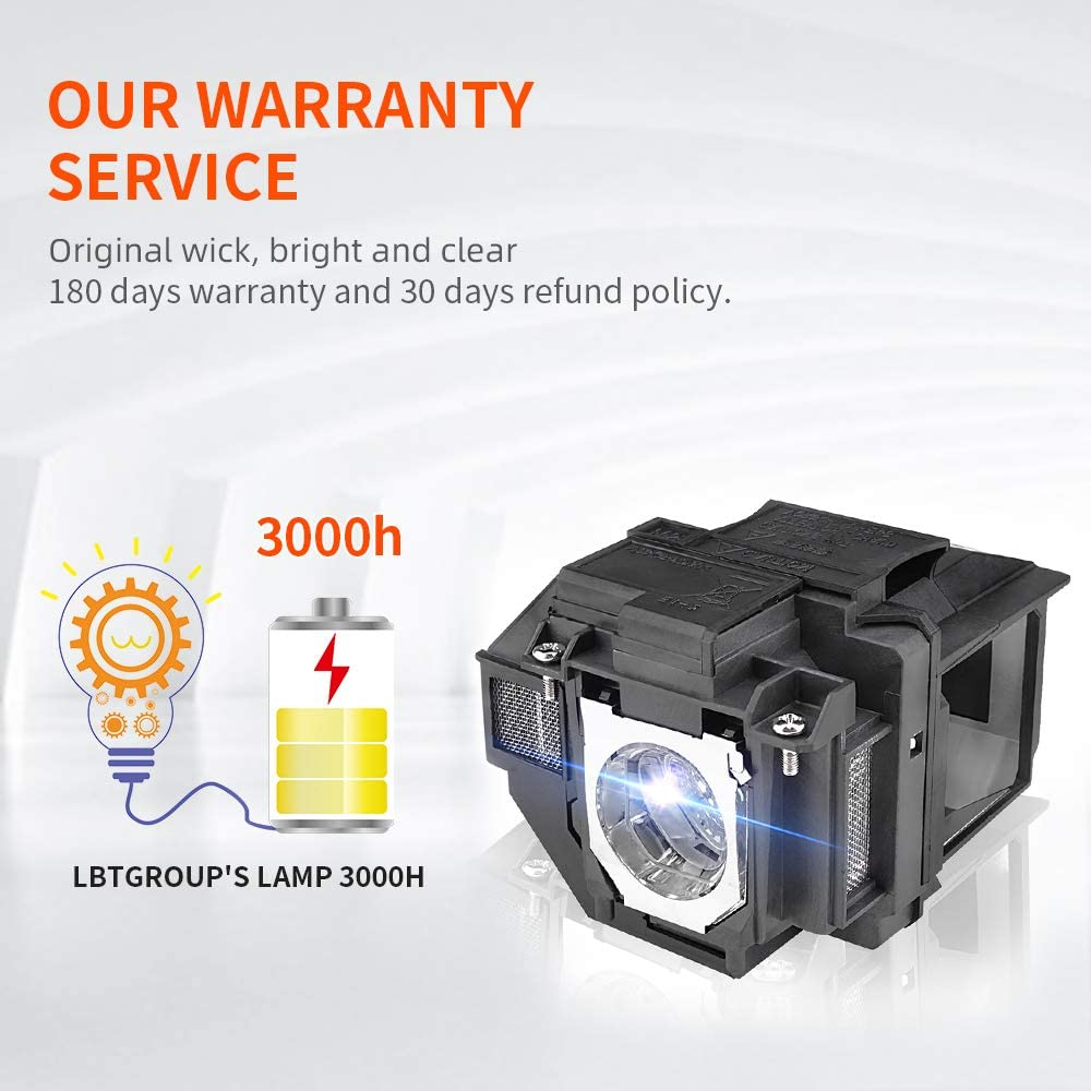 Projector Lamp ELPLP96//V13h010l96 for Epson Powerlite LBTGROUP Home Cinema 2100 2150 1060 660 760hd VS250 VS350 VS355 EX9210 EX9220 EX3260 EX5260 EX7260 Replacement Projector Lamp Bulb