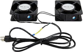 Rising Server Ventilador de gabinete de enfriamiento 110V Montaje en rack 2 piezas: Amazon.es: Electrónica