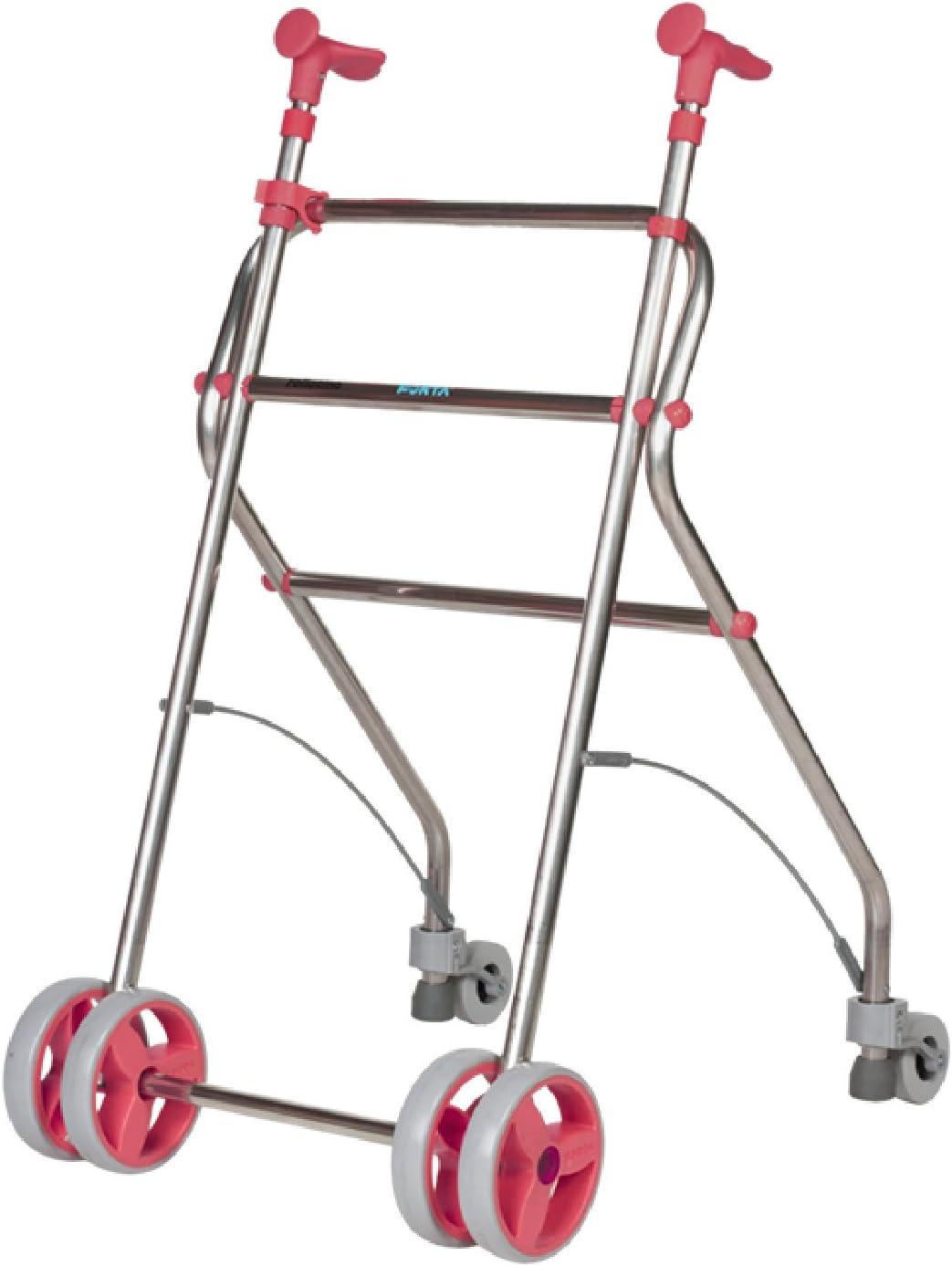 Forta fabricaciones - Andador de aluminio para ancianos Rollatino - Coral