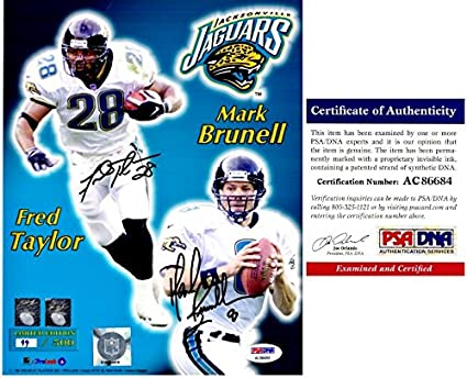 Top Fred Taylor and Mark Brunell Signed Autographed Jacksonville