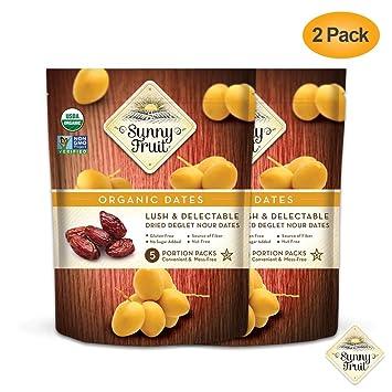 Sunny Fruit - Juego de 2 fechas orgánicas sabrosas y ...