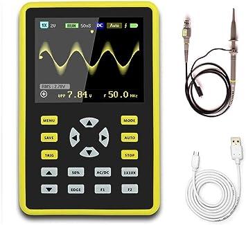 WINGONEER Digital Mini oscilloscope 2.4LCD Screen Handheld Portable with 100MHz Bandwidth and 500MS s Sampling Rate