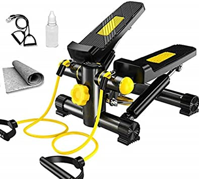 Cxmm Paso a Paso, Lateral Lateral Stepper Fitness Machine Incluye Bandas de Resistencia y Alfombra, Fitness Gym Machine Mini Stepper, Piernas Brazo Muslo Ejercitador Fitness Entrenamiento de cuer: Amazon.es: Hogar