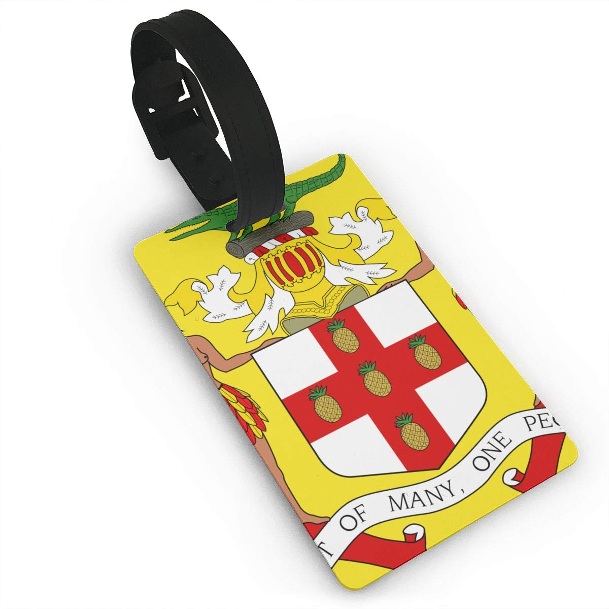 KODW12 Coat of Arms of Jamaica Luggage Tag Travel Bag Labels Suitcase Bag Tag Name Address Cards