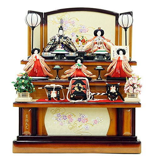 雛人形 三五親王 芥子官女 五人飾り 御雛 ひな人形 三段飾り 吉徳大光 HNY-306-217   B078V93ZS6