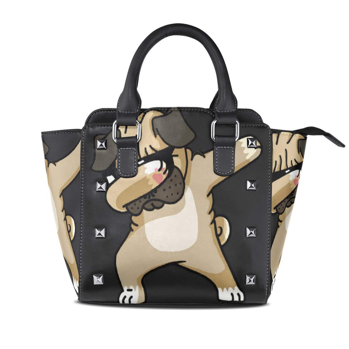 Design3 Handbag Eagle Genuine Leather Tote Rivet Bag Shoulder Strap Top Handle Women