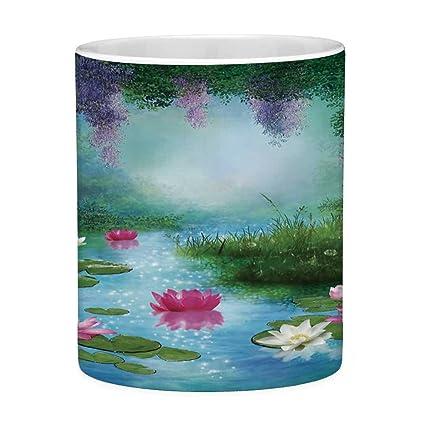 Christmas Floating Tea Cups.Amazon Com Lead Free Ceramic Coffee Mug Tea Cup White