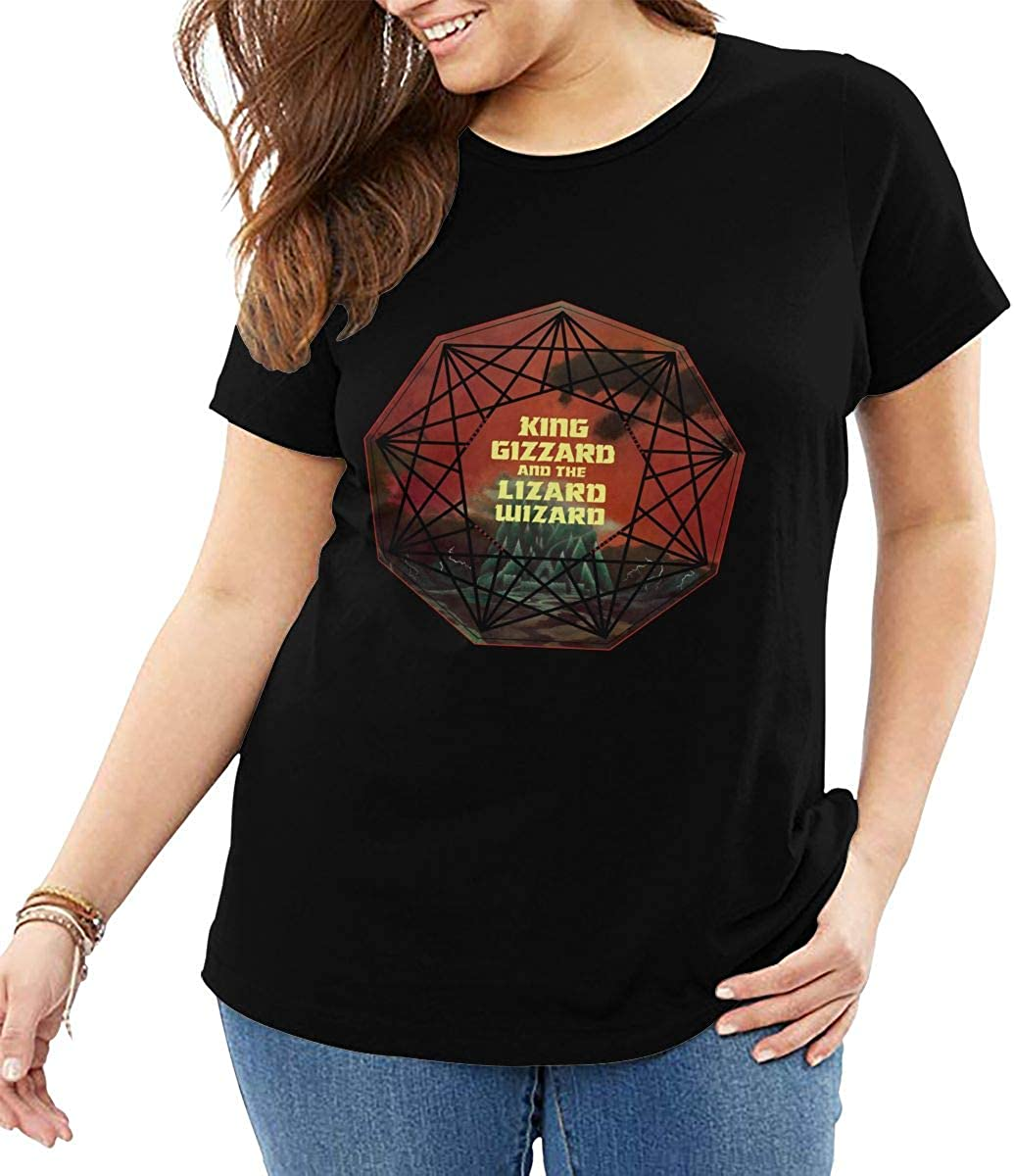 King/Gizzard/and/Lizard/Wizard Womens Fashion Trend Slim Fit Comfortable Round Neck Short Sleeve T-Shirt
