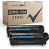 v4ink 2PK Compatible Toner Cartridge Replacement for Canon 104 CRG-104 FX-9 FX-10 Toner Cartridge Ink for use in Canon Imagec