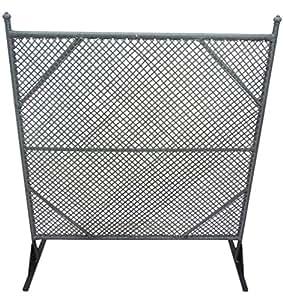 Panel de yeso grigliato separè rejilla pvc y aluminio poly Ratán sintético, color negro