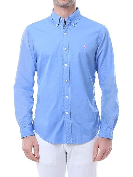 new style 2f660 24538 Ralph Lauren-Camicia Slim Fit in Cotone 710741788: Amazon.co ...