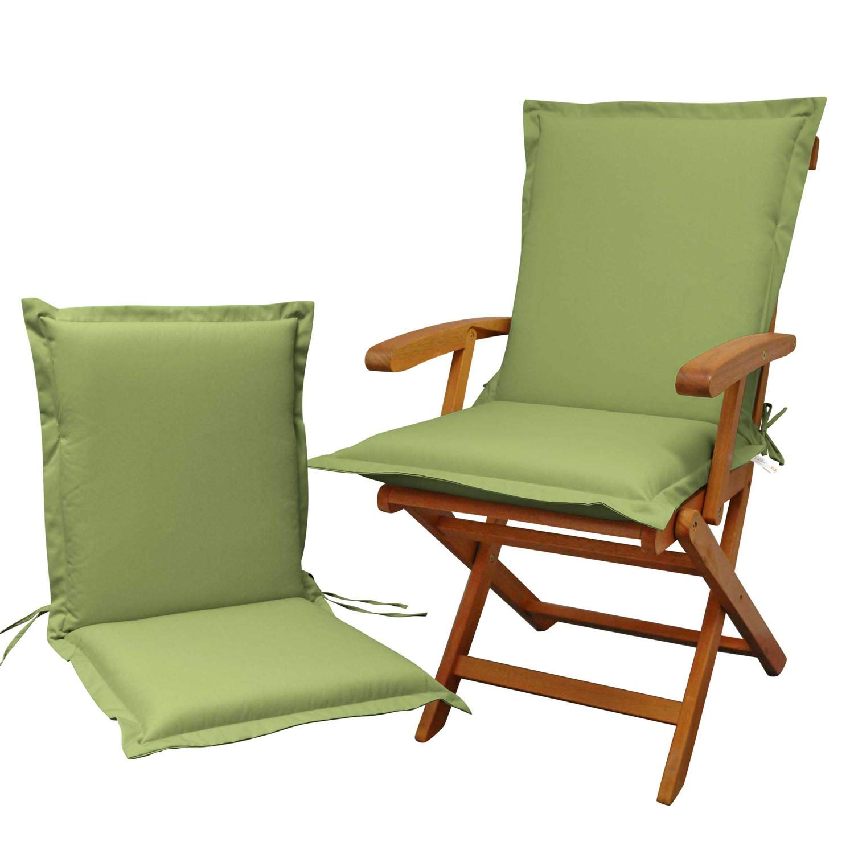 Indoba 2 x Sitzauflage Niederlehner Premium Polsterauflage Grün