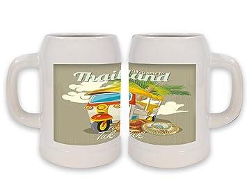 Jarra de Cerveza Trotamundos Tailandia impreso