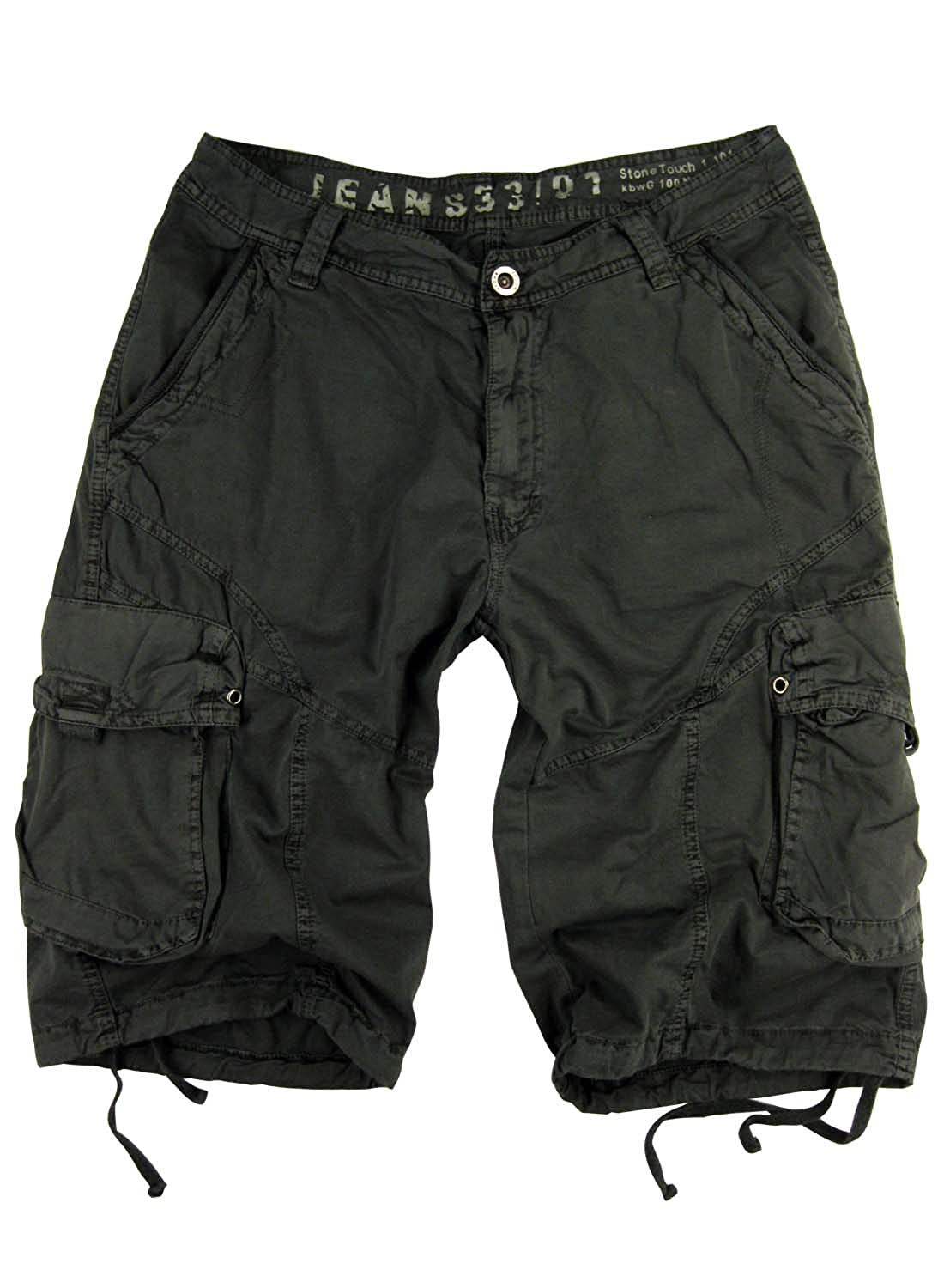 Stone Touch Mens Sizes:30-54 Military-Style Cargo Pocket Shorts #27S