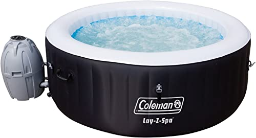 Coleman-13804-BW-SaluSpa-4-Person-Portable-Inflatable-Outdoor-Round-Hot-Tub-Spa