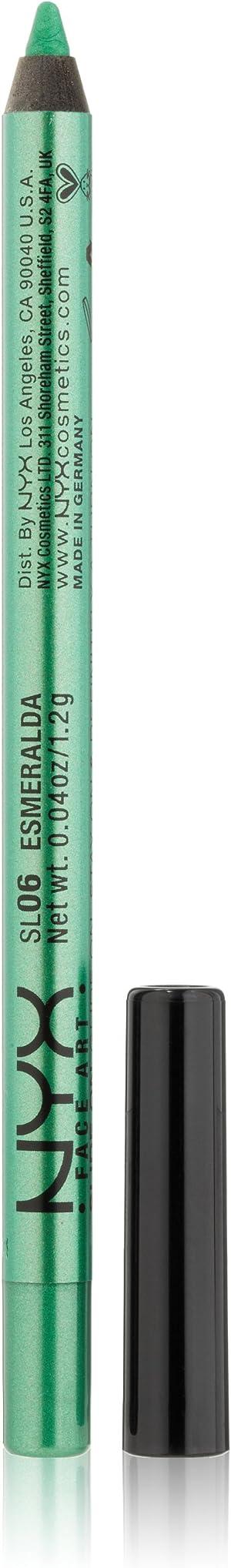 NYX PROFESSIONAL MAKEUP Slide On Pencil, Waterproof Eyeliner Pencil, Esmeralda